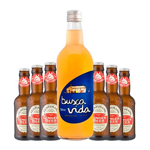Combo Busca Vida e Fentimans Ginger Beer
