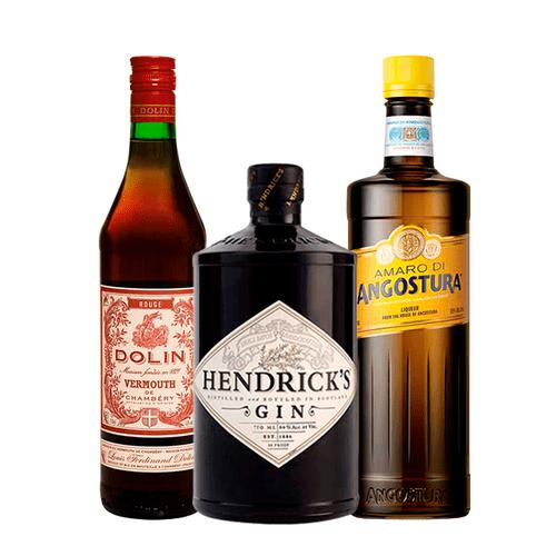 Combo Gin Hendrick's, Amaro di Agostura e Vermouth Dolin