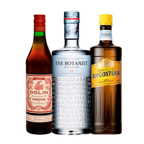 Combo Gin The Botanist, Amaro di Agostura e Vermouth Dolin