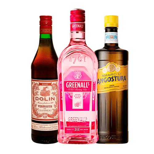 Combo Gin Greenall's, Amaro di Agostura e Vermouth Dolin