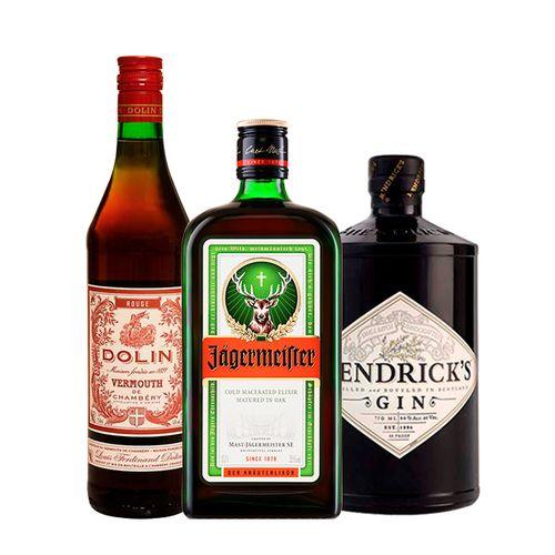 Combo Gin Hendrick's, Jagermeister e Vermouth Dolin