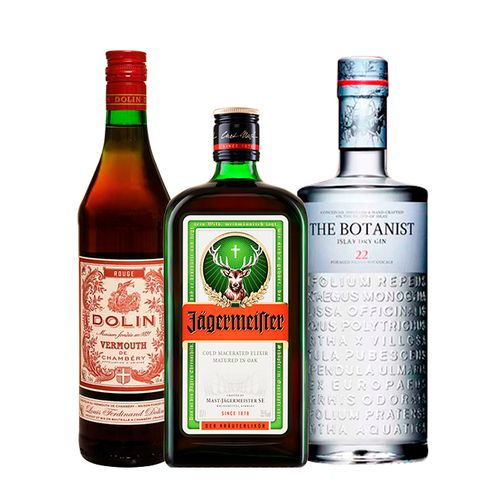 Combo Gin The Botanist, Jagermeister e Vermouth Dolin