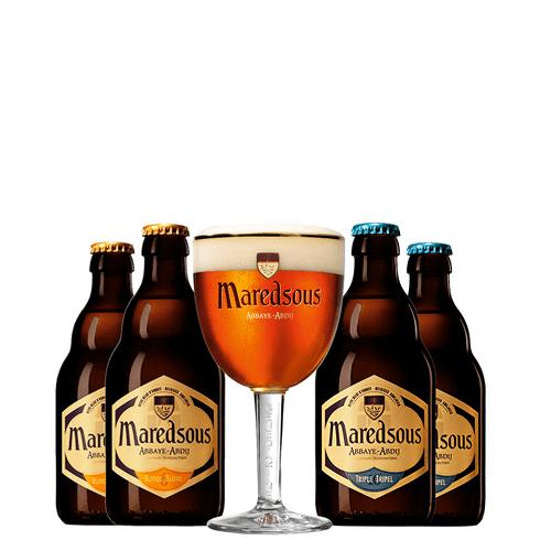 Kit Cerveja Maredsous + 01 Taca